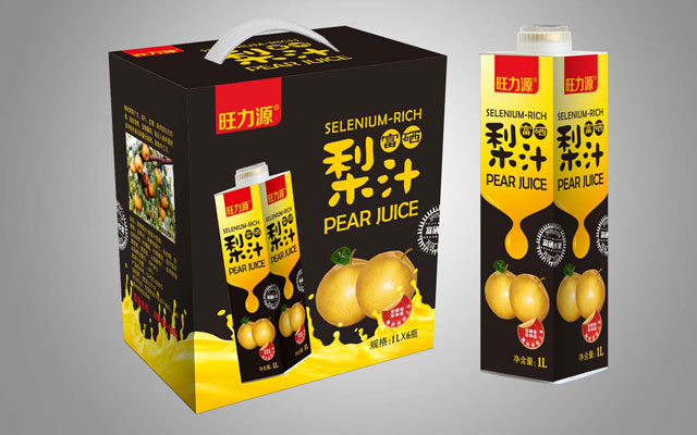 2017安徽旺力源富硒梨汁饮料设计